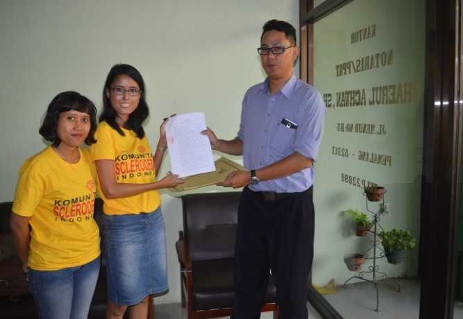 The establishment of Scleroderma Indonesia Foundation
